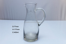 Glass water pot and vinegar and oil bottle/jar