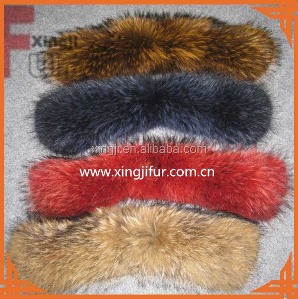 good quality chinese natural or dyed color raccoon skin real raccoon fur trim for hood
