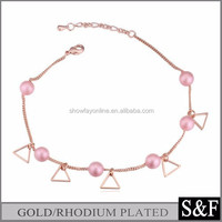 New Design Pearl Jewelry Anklet Gold Anklets For Women