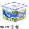 China Wholesale Good Sealing Food Packing Box:Square BPA Free PP Plastic Clear Food Container with Lid 900ML/30oz
