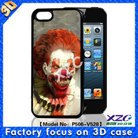 3D mobile case for iphone 5 with face changing effect