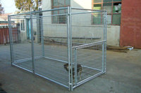 2016 hot sale outdoor galvanized steel dog kennel wholesale