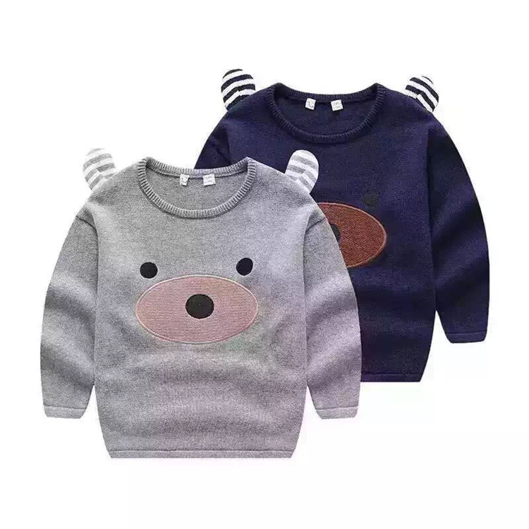 UVX19 Latest Design Cute Pattern Winter Autumn Sweater Designs For Kids Hand Knitted