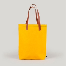 2017 new fashion yellow handbag plain solid color blank canvas tote bag