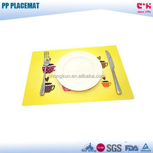 FDA Material new technology 3D PP frosted placemat table placemat supplier 3D PP lenticular placemat tablemat for coffee shop