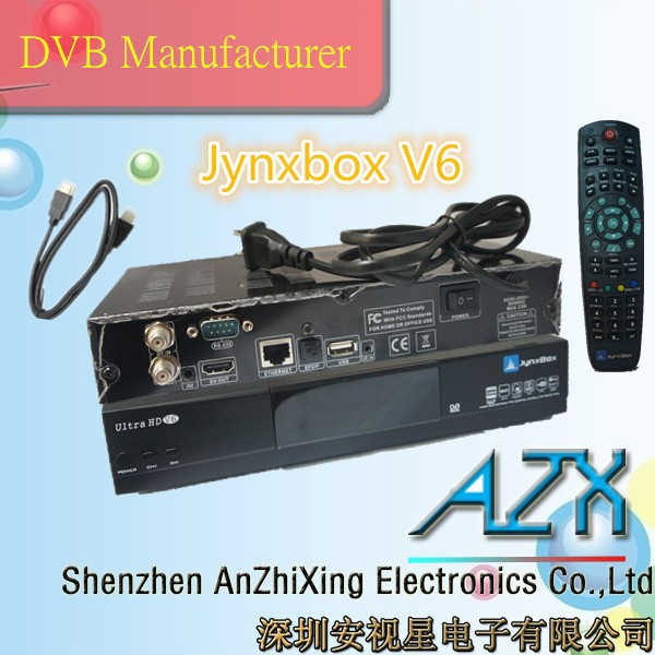 Full hd 1080p mini tv satellite receiver set top box JynxBox Ultra HD V6 dvb s2 free to air set top box