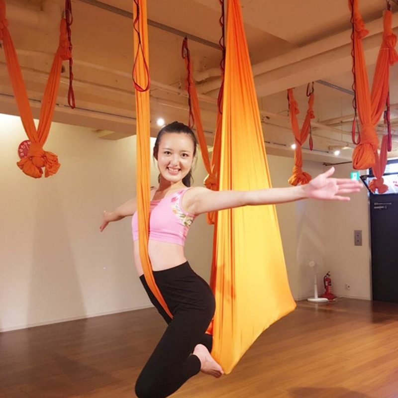 Aerial yoga swing Upgraded Stretch silked Antigravity Yoga hammock for sale