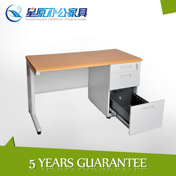 assemble modern office table photos/ computer desk / metal frame office computer table with drawers
