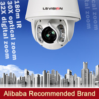 LS VISION ip cmaera ptz auto motion tracking ip camera 360 degree rotate speed dome cameras