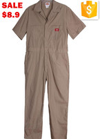 Unisex Poly/Cotton Short Sleeve Coveralls For Industrial And Construction