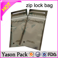 Yason mini aluminum foil grip seal bags with ziplock/zipper top small black foil plastic envelope diamond butterfly ziplock bag