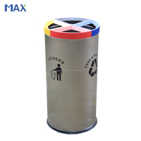 GZ MAX metal round dustbin indoor garbage can