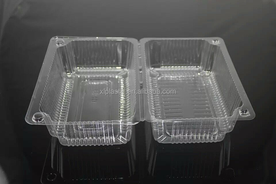 Disposable plastic fruit take away packaging box