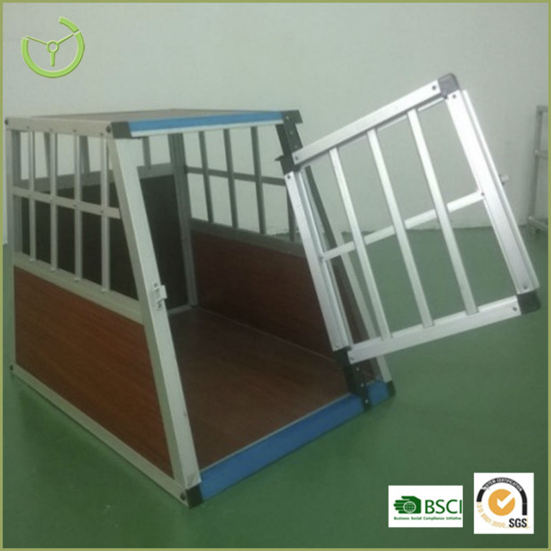 Metal aluminum Dog Transport Crate for Car