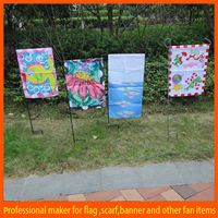 China Selling mental stand various sized golf garden flag
