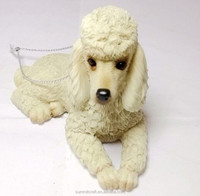 Personalized resin poodle wholesale christmas ornament suppliers