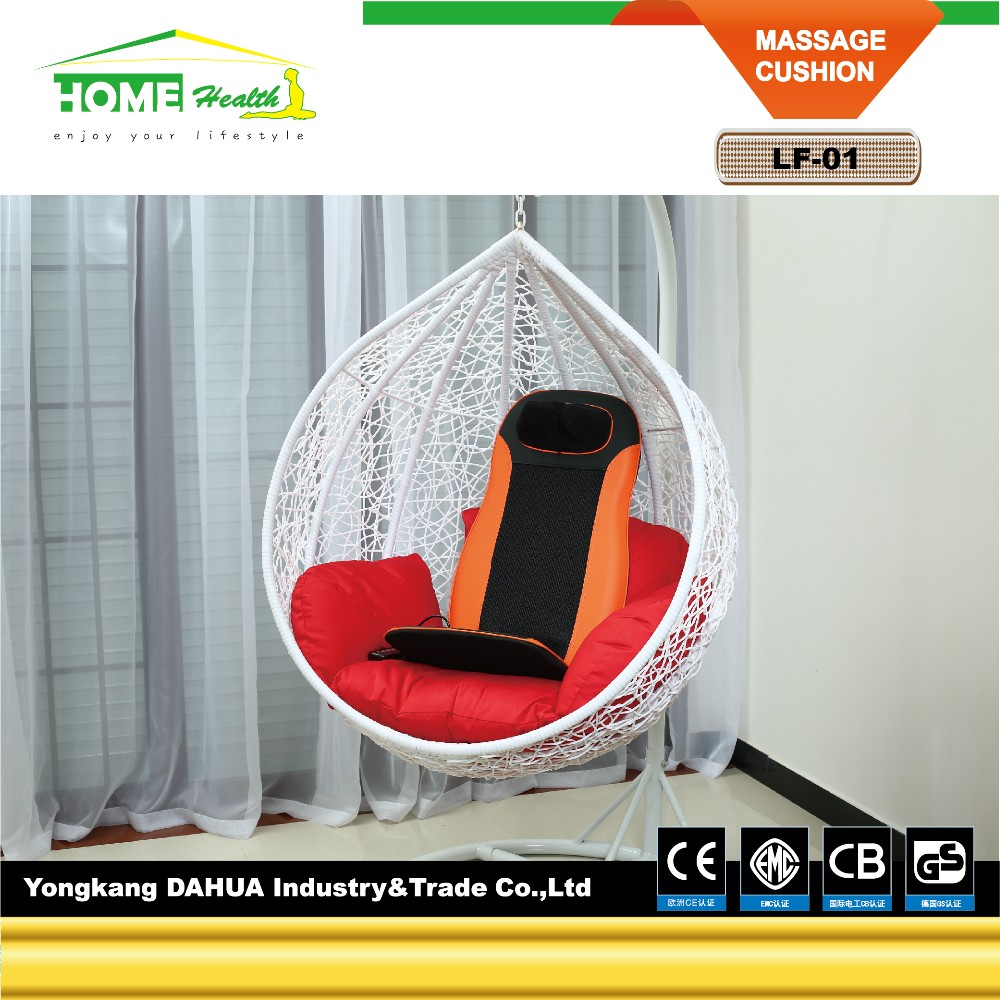 Electric Shiatsu Infrared Heating Battery Operated Car And Home Back Massage Cushion
