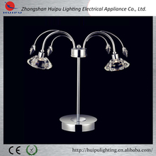 modern crystal 2 lights table lamps / K9 crystal led table lights zhongshan from alibaba