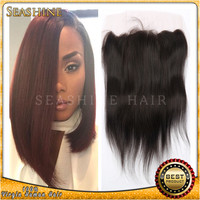 "best selling 2014 Beauty High Quality 6A Grade Brazilian Straight Lace Frontal closure With Baby Hair (13""x4"")"