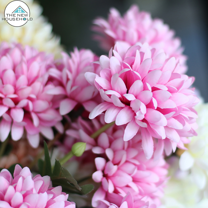 Home &festival decoration frabic Chrysanthemum artificial flower wholesale
