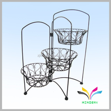 China supplier own factory 3-tier wire metal folding plant stand