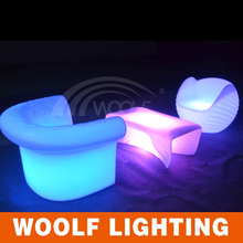 High quality wholesale led sofa fashion Outdoor Illuminated LED Furniture Sofa with lights for sale
