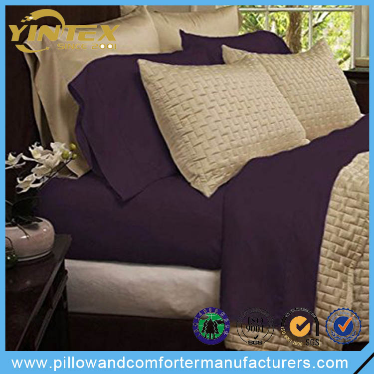 100% Bamboo Fiber American Style Bedding Set Bed Sheet