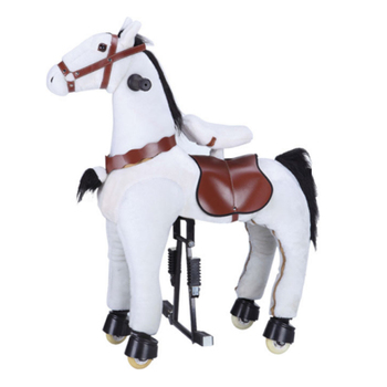Elong indoor playground equipment kids toy ride mechanical horse, riding horse