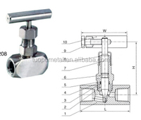 China New Product Stainless Steel water Needle Valve,gas valve part pipe fitting