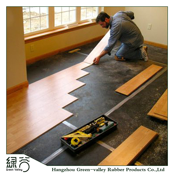 Noise insulating carpet cork underlayment for wooden laminate floor, View Underlayment, Green-Valley Product Details from Hangzhou Green-Valley Rubber ...