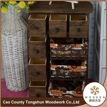 China Brown Bedroom Cabinet with Basket Living Room Storage Cabinet