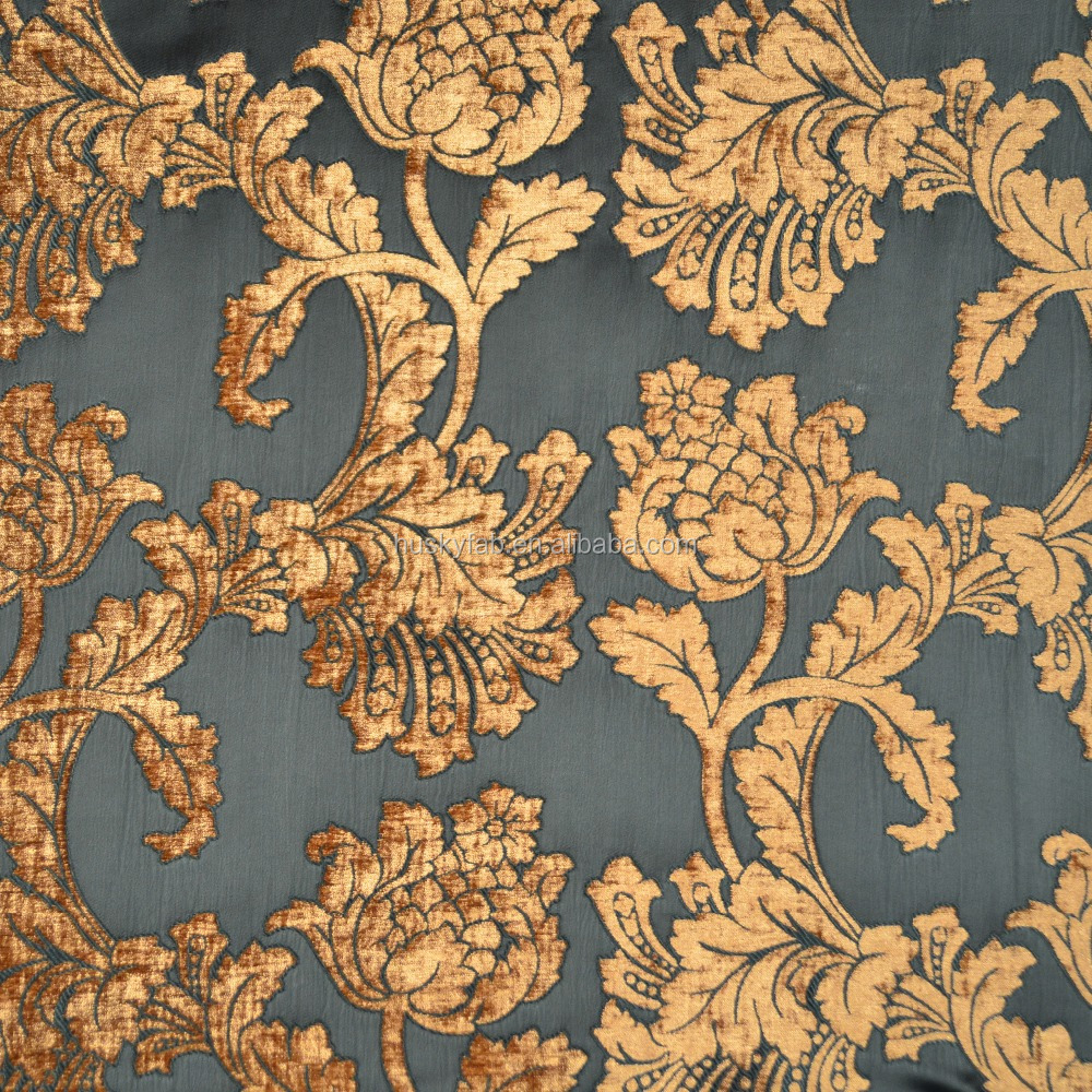 Polyester Rayon Chenille Jacquard Fabric of Sofa or Curtain