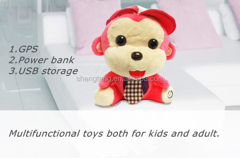 OEM Wholesale Plush Toys with GPS, Power Bank, USB Storage Functions/ Kids Adults Gift