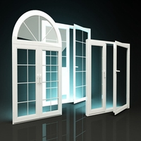Pvc Profiles Triple Casement Windows made in China