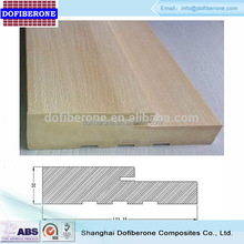 high density high nail holding solid wpc pvc vinyl door frame