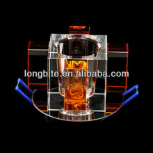 crystal home decorative spotlights G9 35w square amber blue clear color
