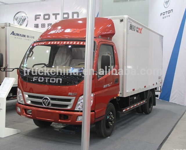 China Foton Light Cargo Truck with Van BOX