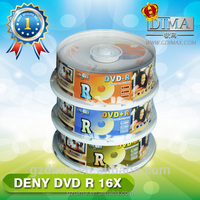 DENY top quality high recording rate cheap dvds virgin