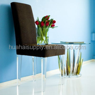 Acrylic high back hotel chair restaurant chair