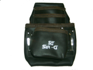 10 Pocket Oil Tanned Leather Nail & Tool Pouch Bag, tool pouch, tool belts.