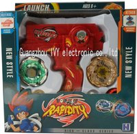 Beyblade RED Hybrid Wheel Fight Attack Double Launcher Beyblade