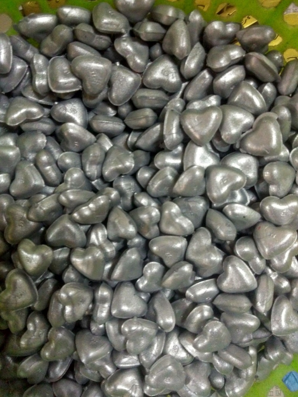 hearted shape wax beads for wedding invitations