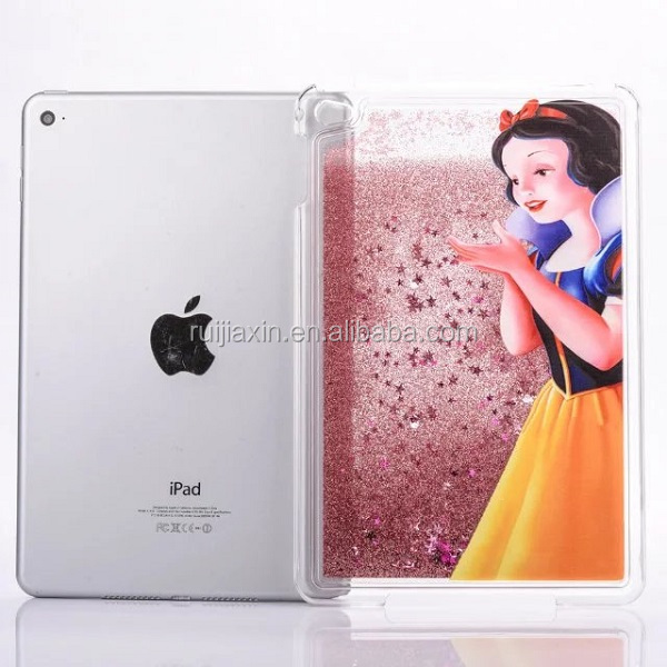Fashion pc Liquid 3D phone case for ipad mini 4,for ipad mini 4 back cover case