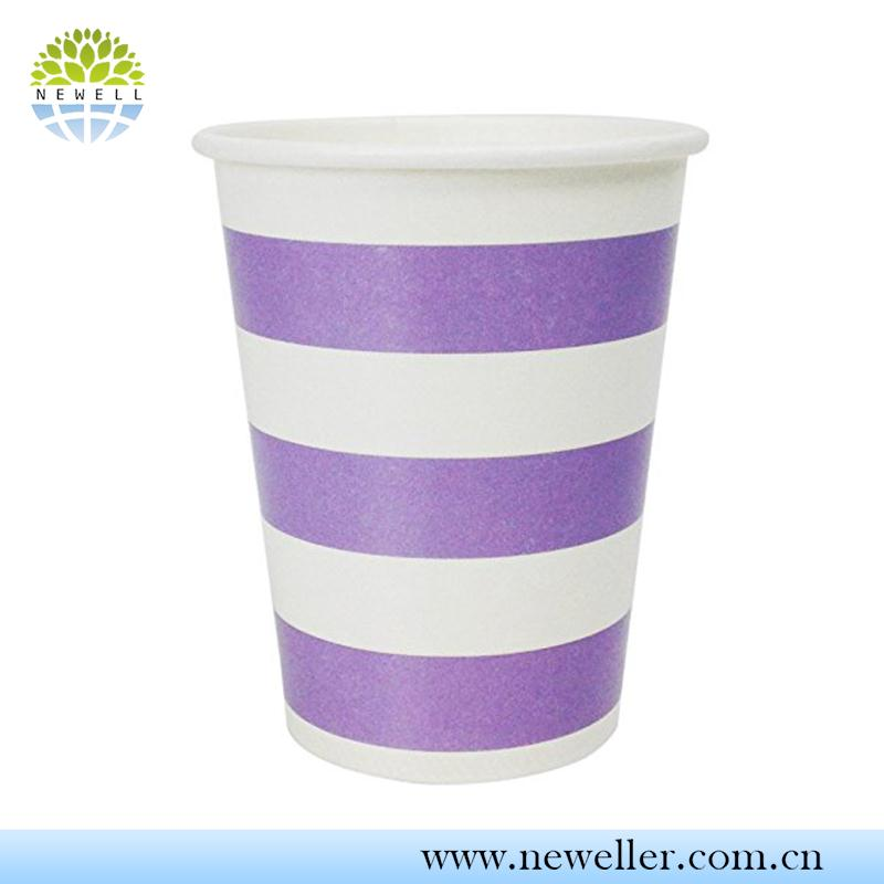 Handmade paper wrapped sugar cane paper cup with individual package