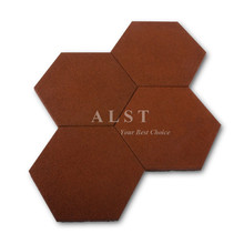 factory wholesale price hexagon shaped rubber brick floor paver