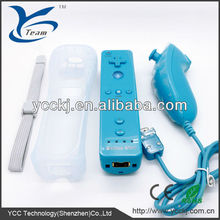 practical set!!! bulit-in motion plus for wii remote controller with silicone case and wrist strip