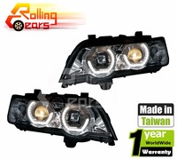 HALO PROJECTOR HEADLIGHTS w/LED ANGEL EYES for BMW E53 X5 3.0d 3.0i 4.4i 4.6is 4.8is V8 L6 M54 1999 2000 2001 2002 2003