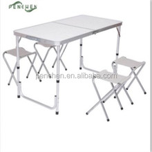 High Quantity Picnic Table With 4 stools Which Can Pack Inside Folded Folding Table