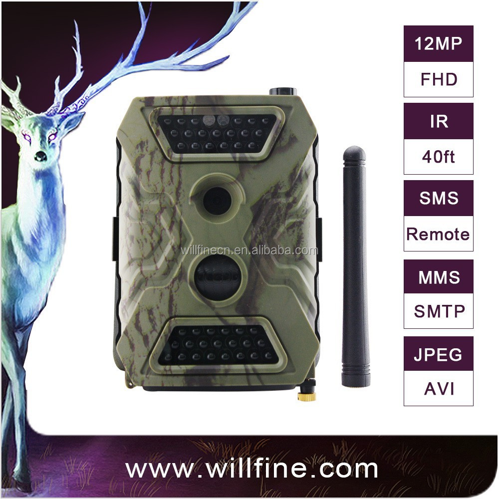 12MP 1080P MMS/GPRS/ SMTP WILLFINE hunting camera with long Battery life