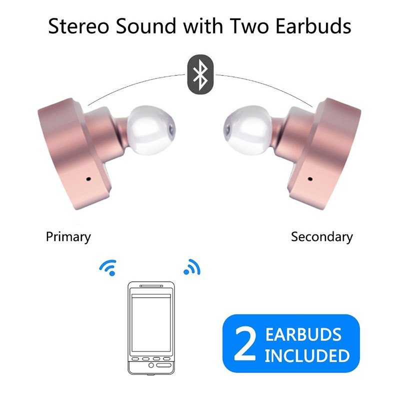 Tws mini bluetooth headset, in ear magnetic headset bluetooth, V4.2 headset with power bank